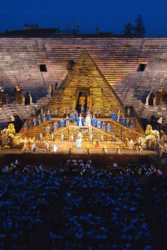 Arena di Verona AIDA of Giuseppe Verdi