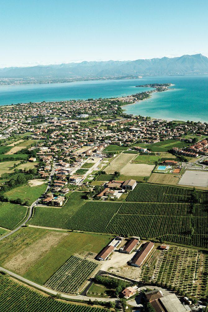 Lugana area in Southern Lake Garda